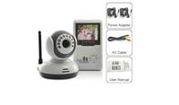 "Baby Monitor 2.4G Wireless Digital IR Camera Night Vision 2.4""LCD Intercom Free shipping!!"