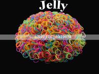 600 - Loom Bands DIY Jelly Colors Refills Twistz Bracelets Rubber Bands Necklace + 25 Clips
