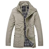 New  Plus Size Winter Fertilizer To Increase Cotton Jacket Waterproof Windproof Jacket Big Yards Thick Coat Male Models