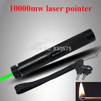 Super Deals High Quality High power 523nm 10000mw laser pointer flashlight mantianxing green pen laser 301 Green light Gift