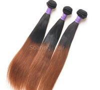 Ombre Two Tone #1b/30 Color Brazilian Virgin Human Hair Weave Silky Straight Weaving Extension 3pcs/lot and 4 pcs/lot