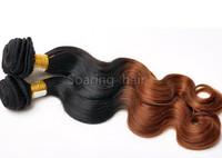 Ombre Two Tone #1b/30 Color Brazilian Virgin Human Hair Weave Body Wave Weaving Extension 3pcs/lot and 4 pcs/lot