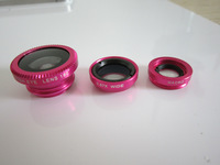 Clip-On Fish Eye Lens Wide Angle Macro 3 in 1 for iphone lens Mobile Phone Lens For mobile phone cell phone shipping free