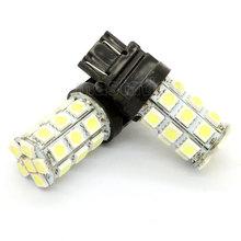 2pcs/lot T20 3157 5050 SMD 27 White LED Brake Tail Back Up Light Bulb Lamp White, yellow, red car light(China (Mainland))