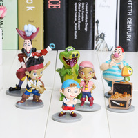 7pcs/set Anime Cartoon Jake and The Neverland Pirates PVC Action Figure Toys