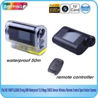 100% Original SJ3000 Action camera Full HD 1080P Wireless Remote Control 12m CMOS Sensor 30M waterproof  Video camera(SC-25)
