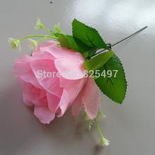 Artificial Silk Rose Applique 10PCS 8 * 15cm rosa azul branco rosas vermelhas para arranjos do casamento arco da flor Flor artificial(China (Mainland))