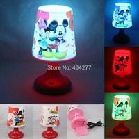 Mickey&Minnie Mouse USB Battery LED Night Lamp,Multicolor Lamplight Night Lights Room Desk Table Light Chirstmas Birthday Gift