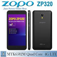 Original ZOPO ZP320 320 4G LTE Mobile Phone Quad Core MTK6582M 1.3GHz 5.0 inch 960X540 IPS Screen 1GB RAM 8GB ROM 2300MAH