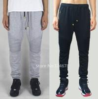 men black biker jogger pants red hip hop brand skinny jogging kanye west balm*in sweatpants hba pyrex bandana pants trousers