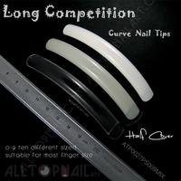 30 Packs Long Competition-Curve False Nails Extreme Long Nail Tips Natural /Clear/White Salon Nail Tips  -Free Shipping