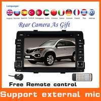 2 Din Automotivo Car DVD GPS  For KIA SORENTO 2010-2012 +GPS Navigation+Radio+Audio+Stereo+MP3+TV+central multimidia