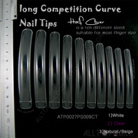 Long Competition-Curve False Nails Professional Extreme Long Nail Tips Clear Salon Nail Tips 20 Packs -Free Shipping