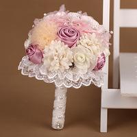2014 New Top Fasion Cotton Wedding Bouquets Bride Flower Bouquet Elegant Holding Flowers Photo Shoot Props