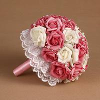 2014 Bouquet of Bride Top Fasion Seconds Kill Cotton Wedding Bouquet Bride Holding Flowers Pe Series Photo Shoot Props Flower