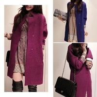 Hot sale 2014 new winter woolen coat long paragraph Korean version of Slim woolen coat women cheap trench coat female outerwear