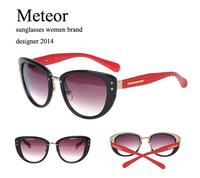 fashionable Noble Temperament Glasses Womens Brand Designer Cat Eye,High-definition CR-39 Lens Vintage Sunglasses For Women
