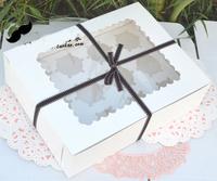 12-count White box cupcake cupcake box with insert 24cm*31.2cm*8.7cm ( 100 pieces)