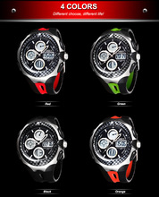 New Men s Waterproof Multifunctional Sports Watches 2 Time Zone Analog LED Digital Quartz Military Watch
