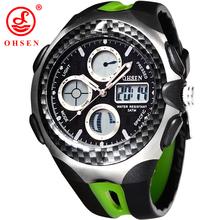 Nuevos hombres relojes deportivos OHSEN marca Analog reloj Digital LED exterior vestido ocasional del reloj de pulsera militar Relogios Masculinos