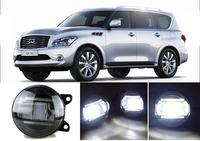 eCityBuy Infiniti QX Fog Lights LED Guide Daytime Running Lights Q5 Lens Foglights -2PCS