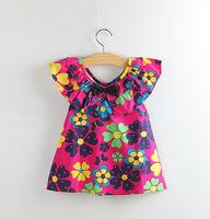 Retail spring new 2014 kids children Fashion festival gift summer wear vestido de menina roupa infantil party girls dress 2201#