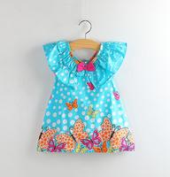 Retail spring new 2014 kids children classic festival gift summer clothes vestido de atacado roupas infantil girls dress 2201#