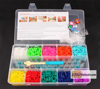 Wholesale DIY Rubber  Bracelet Band  Loom  Set  Popular Toys (3*5 box 2000 bands) Jingwholesale.com