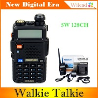 RETEVIS RT-5R Walkie Talkie Interphone 5W 128CH UHF + VHF DTMF VOX Dual Band Dual Frequency Portable FM CB Radio Two Way Radio