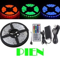 5m RGB 300 LED 5050 SMD 12V led strip light tape Garland christmas Waterproof white|blue +Controller+Power adapter Free shipping