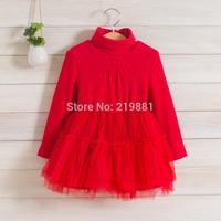 wholesale ! girls autumn gauze tutu dress , dress kids for girl ,  5pcs/lot   LXJ31