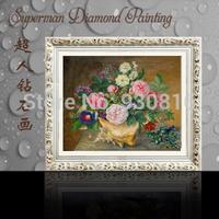 New 2014 Needlework DIY Diamond Painting Artwork Decoration Needles Embroidery  Vase Flower