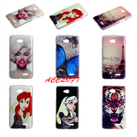 6 Styles New Brand Eiffel Tower Butterfly Sexy Girl Tiger Plastic Back Hard Case cover for LG L70 D325 D320 L70 Dual