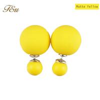 New 2014 hot sale Double pearl stud earrings for women free shipping !#906
