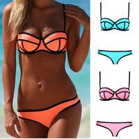 2014 Free Shipping Sexy Hot Summer Bandage H L Bikini Monokini Beachwear Swimwear Swimsuit Women Lady BodyCon 021433