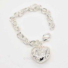 New 2015 Lovely Bracelets Women 925 Silver Sweetheart Hollow Out Heart Bracelet Silver Plated Hand Chain