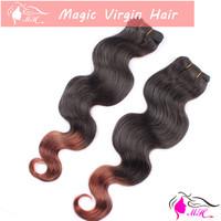 Ombre Two Tone #1b/30 Color Brazilian Virgin Human Hair Weave Body Wave Weaving Extension