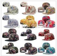 2014 New Hot Adjustable Floral Flower Blank Hip pop Snapback Caps Men Basketball Football Baseball Cap Snapback Hats