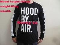 2014 hip hop new hood by air hba classic logo printed men long sleve cotton tee t shirt