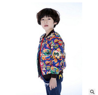 Children's clothing down coat winter 2014 medium-large child boy child thermal down liner boy down free shipping two colors