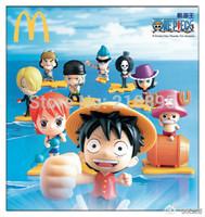 limited  McDonald's toys One Piece Collect /  Luffy Chopper Nami Usopp Sanji Franky Brook Robin Zoro 9 kinds pvc action figure
