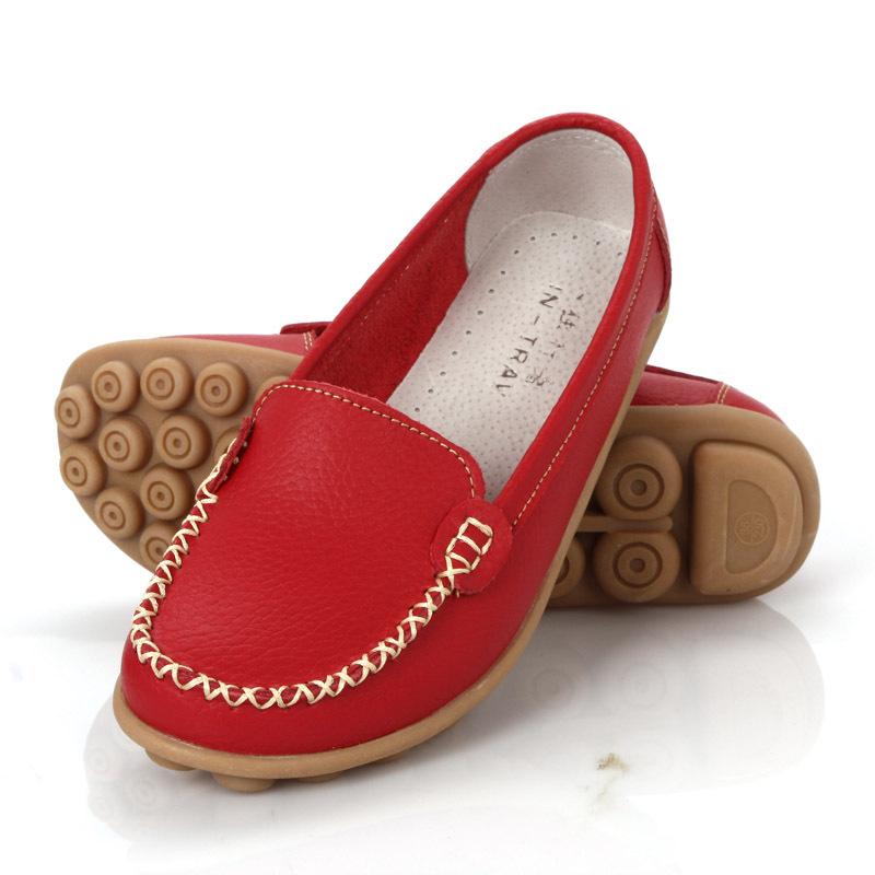 Women genuine Leather Shoes Slip-on Ballet women Flats Comfort shoes woman moccasins sapatilhas femininos FL011(China (Mainland))