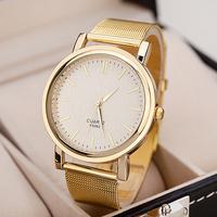 2014 New Fashion Women Gold Dress Luxury Brand Watch Simple Dial Analog Steel Quartz Wristwatch reloj relogios femininos montre