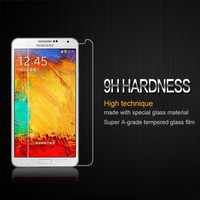 Tempered glass  protector For galaxy note 3 tempered glass screen protector HD clear film ultra thin  guard  Anti-Bubble