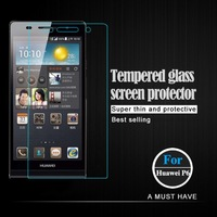 Huawei Ascend P6 Screen Protector Tempered Glass  HD Clear Film Ultra Thin Guard Anti-Bubble Crystal Shield