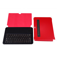 Ultra-thin 5mm Aluminum Wireless Bluetooth Keyboard Leather Stand Case Cover for Samsung Galaxy Note 10.1 N8000 N8010 N8013