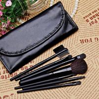 Low-cost sales makeup tools 7pcs Both portable makeup brush set, Soft hair brand BLACK makeup brushes professional