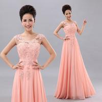 Slit neckline bag water soluble lace design long evening dress formal dress bride evening dress