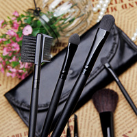 Low-cost sales makeup tools 7pcs Both portable makeup brush set, Soft hair brand BLACK makeup brushes professional