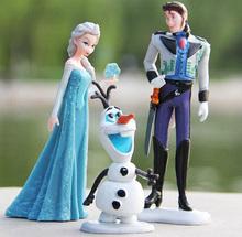Cheapest Toy Set! 2014 New Movie Frozen Anna Elsa Hans Kristoff Sven Olaf PVC Action Figures Toys Kids Doll Gift #6 SV000972 (China (Mainland))